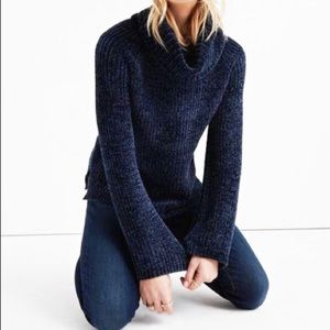 Lucky Brand Chenille Cowl Sweater NWT
